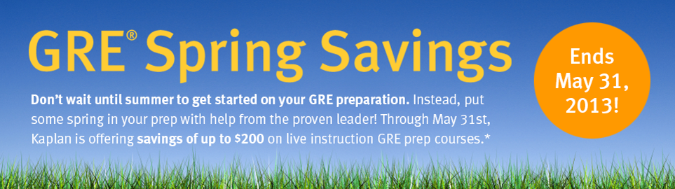 GRE Spring Savings