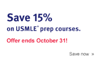 Save 15% on USMLE prep courses. Offer ends October 31!