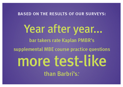 Kaplan Bar Review better than BarBri