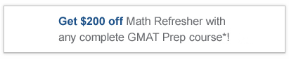 Get $200 off Math Refresher