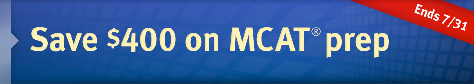 Save $400 on MCAT prep