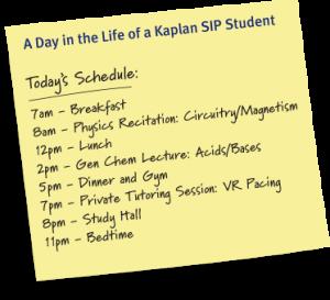mcat-sip-schedule