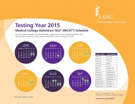 Use this calendar to decide when to register for your MCAT test date.