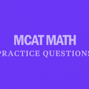 mcat-math-practice-questions