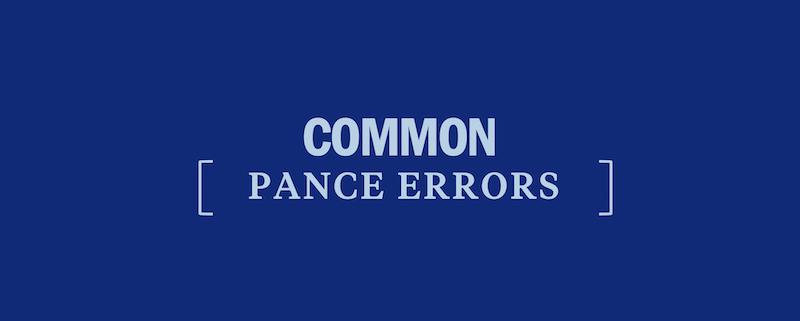 common-pance-test-errors