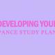 develop-pance-study-plan