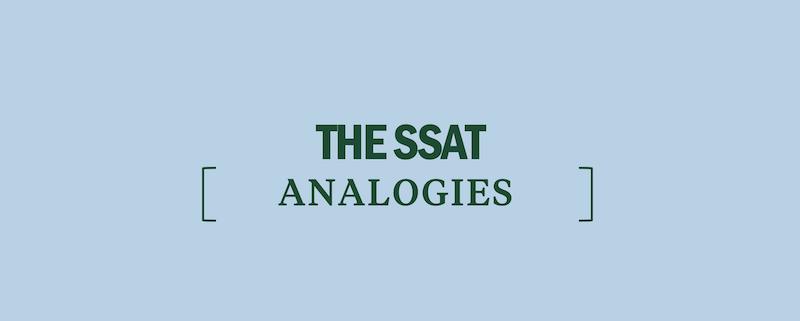 ssat-analogies