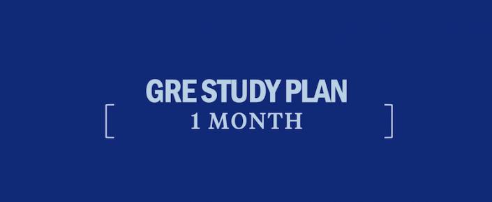 gre-study-plan-1-month