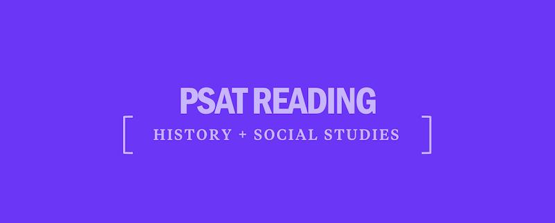 psat-reading-history-social-studies
