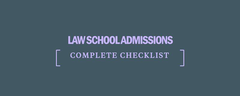 law-school-admissions-checklist
