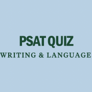psat quiz writing and language