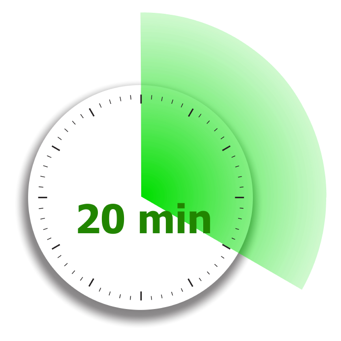 20 min online