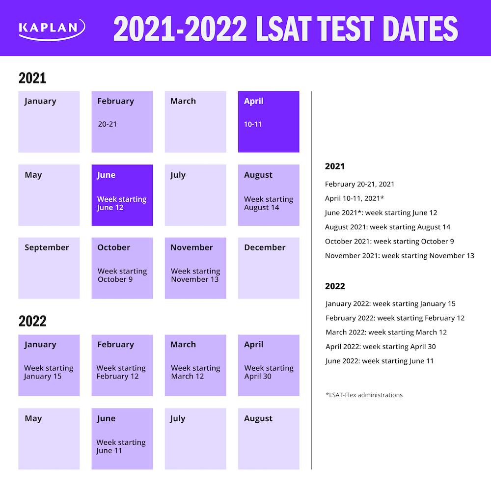 2021 2022 LSAT Test Dates